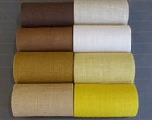 5 inch Burlap Ribbon - YELLOW - Natural - Ivory - Beige - Brown - Gold - Terracotta