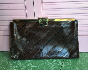 Oversized Nordstrom Italian Leather Clutch