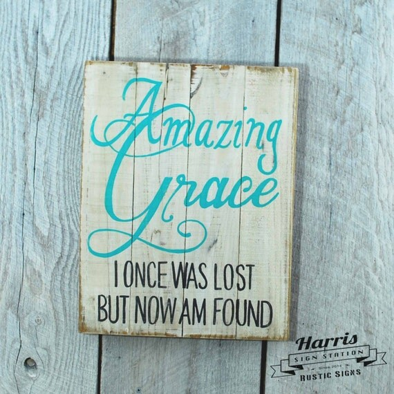 Signs You Re Amazing: Amazing Grace Wood Sign Amazing Grace Pallet Sign White Wood