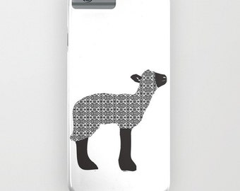 Black sheep onPhone Case - farm  animal , sheep, iPhone 5 iPhone 5C, iPhone 6S, iPhone 6 Plus, Samsung Galaxy S6