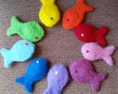 Needle Felted Wool Catnip Fish Cat Toy