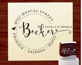 Calligraphy Handwriting Script Custom Return Address Stamp - Personalized SELF INKING Wedding Stationery Stamper - Style 1162D