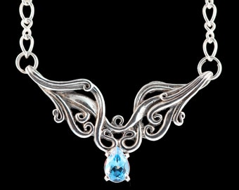 Silver dangle earrings waterfall earrings silver waterfall for Waterfall design etsy