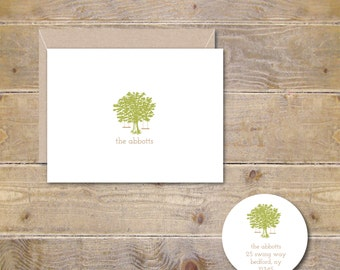Wedding Thank You Cards, Personalized Wedding Thank You Cards, Oak Tree, Swings, Tree Swings, Recycled, Rustic Thank You Card, Bridal Shower