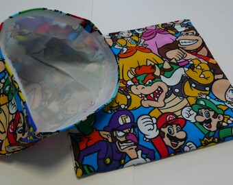 2pc Set Reusable Sandwich and Snack Bag Nintendo
