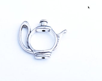 Teapot Bead Holder, Antique Silver, 12 each,  08890CS