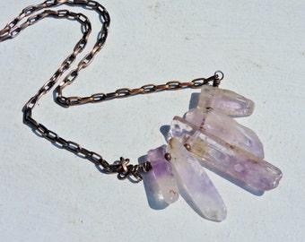 Ametrine Rough Stick Necklace