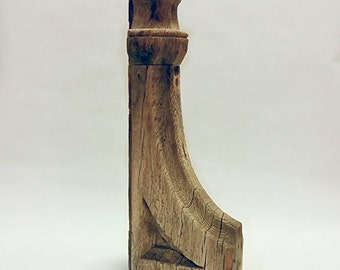 Antique Salvage Architectural Wood Corbel industrial primitive