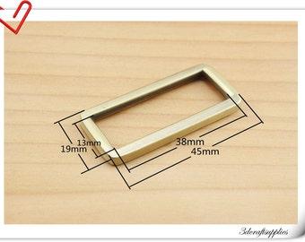 1.5 inch (inner diameter)  Anti brass brush rectangle alloy buckles 10pcs 3mm thickness U34