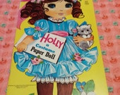 SALE Vintage Holly a Costume Paper Doll Book Uncut 1970's