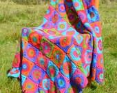 Harlequin -  Crochet Afghan/Blanket - PDF CROCHET PATTERN