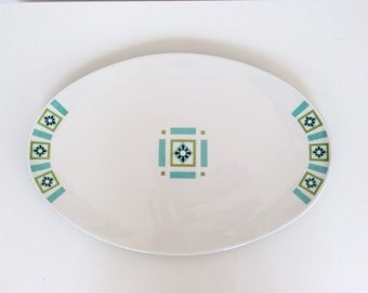Ben Seibel Informal Iriquois Bombay Green Large Oval Serving Platter