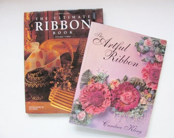 2 Ribbon Books, Artful Ribbon and Ultimate Ribbon / Craft Art and Styles of Ribbons / Maker Crafter Wedding Millinery Fashion DIY techniques