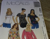 McCall's 4021 Sewing Pattern Misses Top Sizes med-lrg-xlg UNCUT