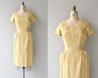 Honeyed Butter dress | vintage 1950s dress | yellow 50s dress