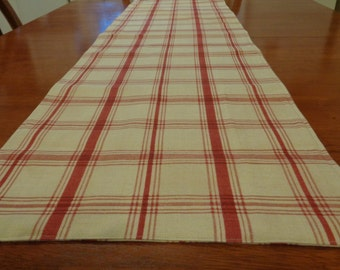 Burgundy Table Cover Runner Lined Cloth