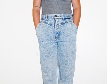 Vintage Jeans Hipster High Waist with Yoke and Skinny Leg