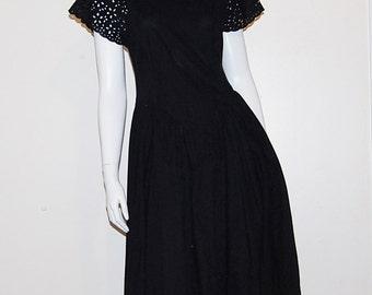 Vintage Black Dress Midnight Vixen