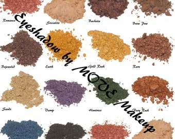 All Eyeshadow Set - Longlasting, Natural Eyeshadow - All Fourteen MOVE colors, Loose Powder for Sensitive Eyes, Work and Play, Goddess