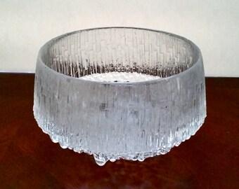 "Iittala ""Ultima Thule"" Glass Bowl by Tapio Wirkkala"