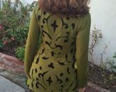 Jersey Tunic Shirt Dress Reverse Appliqué