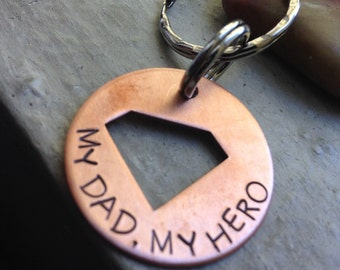 My Dad, My Hero Keychain