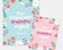 LDS Young Womens 2016 Mutual Theme - Press Forward With a Steadfastness in Christ - Instant Download - Printable AZ106