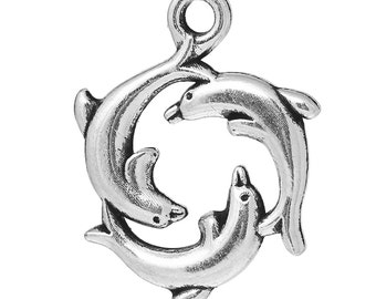 Dolphin Charm - set of 5 - #ASP115