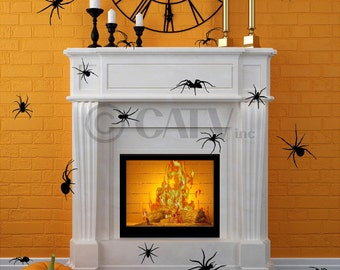 Set of 20 Large Spider scary decals Halloween Rat wall stickers prank party decor home decorations vinyl wall decals