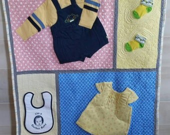 Baby clothes quilt : custom baby clothes quilt - Adamdwight.com