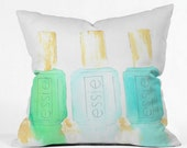 Essie in Blue Indoor Throw Pillow