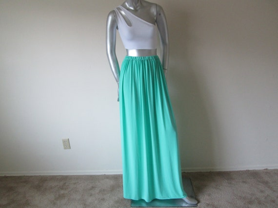 maxi skirt seafoam green by courtneysamone on etsy