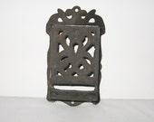 Antique Victorian Cast Iron Match Safe