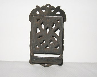 Antique Victorian Cast Iron Match Safe