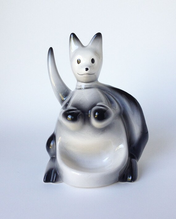 Vintage Mid-Century Joey Kangaroo Ceramic Dresser Caddy