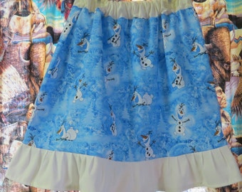 New  size 5 frozen Olaf twirl skirt made with Olaf fabric