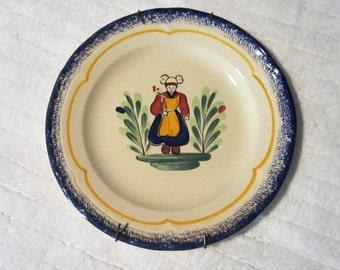 Pornic Bretagne ceramic plate