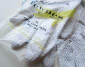 ON RESERVE Vintage White Gloves * Polka Dot Mesh Nylon Gloves * Short Wedding Gloves * Fownes Glove Co.