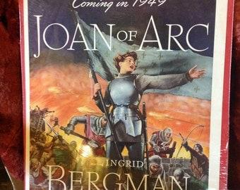 Joan of Arc Film Poster Ingrid Bergman 1948 Victor Fleming - Free shipping