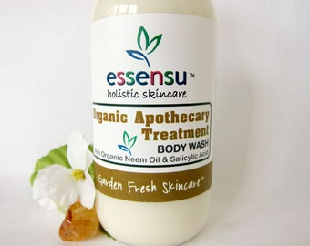 Organic Apothecary Salicylic Acid Neem Oil Natural Treatment Body Wash | Soothe Blemish Breakouts , Eczema , Mild Skin Conditions - 8 oz