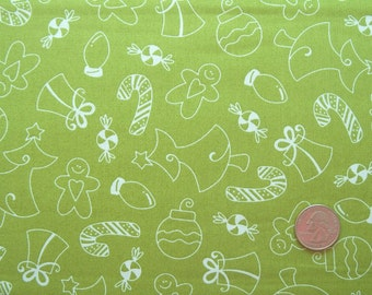 COUPON Code Sale - Maywood Studio, Merry & Bright, Christmas Green Tonal, Designer Cotton Quilt Fabric, Quilting Fabric, SELECT A SIZE