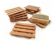 28 aromatic Spanish cedar thin soap dishes - RESERVED for SMBC members - JUST .93 cents each