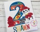Paw Patrol Birthday Shirt ~ 2nd Birthday Shirt ~ Marshall Shirt ~ Marshall Birthday Shirt ~ Marshall Puppy ~ Dog Birthday Shirt ~ Fireman