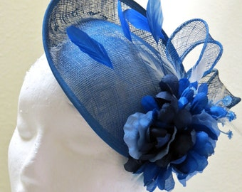 Blue Fascinator Royal Blue Fascinator Wedding Hat BLUE MOOD