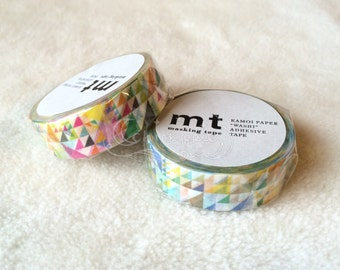 mt Washi Masking Tape - mt ex 2015 Summer - Triangles - Pink / Blue