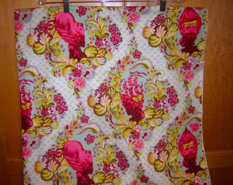 Fabric Free Spirit PARISVILLE paris ville Tula Pink Marie Antoinette Style Ladies head hair fashions sky color way