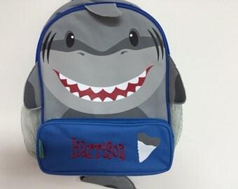 Personalized Stephen Joseph Sidekicks Shark Backpack