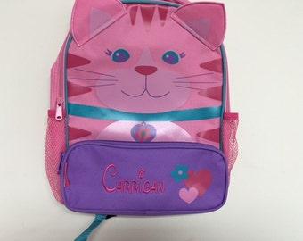 Personalized Stephen Joseph Sidekicks Cat Backpack