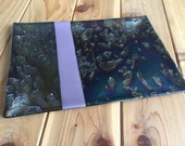 Fused Metallic Dichroic Glass Platter / Serving Tray