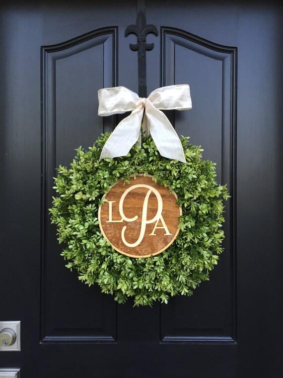 boxwood wreaths wreaths wreath wedding monogram wreaths. Black Bedroom Furniture Sets. Home Design Ideas